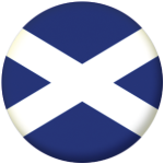 Scotland St Andrew Country Flag 58mm Mirror Keyring